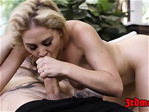 huge-titted platinum-blonde mummy Cherie Deville Gets hammered stiff
