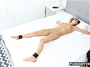raunchy manhandle for a vulnerable strapped biotch