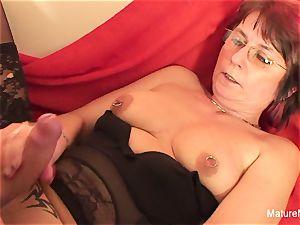 Punky pierced grandma likes to suck and smash