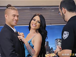 Kissa Sins getting filled rigid