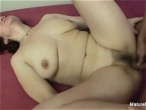 horny mature wants her furry cooch drilled rock-hard
