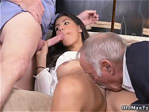super-naughty aged cougar and dude gets blowjob first-ever time Going South Of The Border