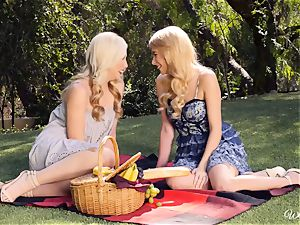 Samantha Rone and Penelope Lynn picnic and cootchie play