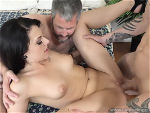 Megan Sages husband drains tiny man rod As She Gets pulverized