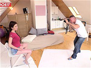 LETSDOEIT - naughty Czech nubile entices Her cameraman