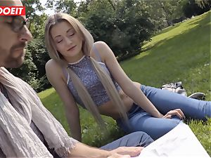 LETSDOEIT - super-steamy towheaded teenager tempts And boinks Stranger