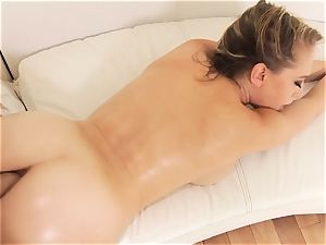 Kagney Linn Karter fucked in the rump doggy style by ginormous lubricated up trouser snake