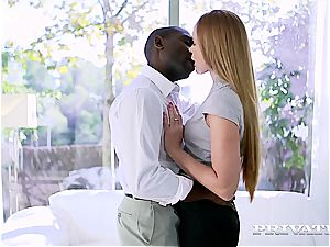 spunky minx Nika finds out the magick of the phat ebony mamba